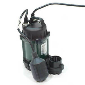 Zoeller Wm49 Sump Pump 1 4 Hp Cast Iron Submersible M49 49 0005 Auto Floatswitch