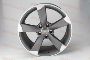 Set Of Four 18 Audi Rs3 Style Grey Rims Wheels Fits Vw Volkswagen Gti Gli A4