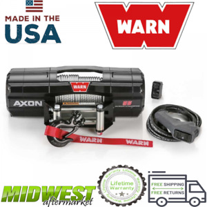 Warn Powder Coat Axon 55 Powersports 5500 Lb Capacity Steel Rope Electric Winch