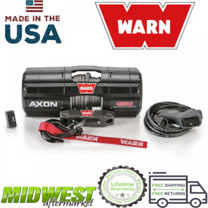 Warn Axon 45rc Powersport 4500 Lb Capacity Spydura Synthetic Rope Electric Winch