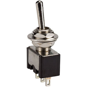On on Spdt Mini Toggle Switch 6 Amp 125 Vac