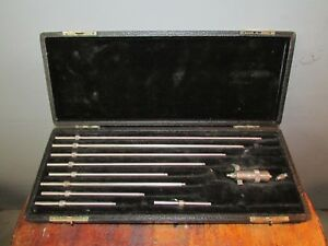 L s Starrett Depth Gage Micrometer Set Original Case Working
