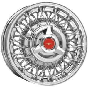 Coker 15x6 Thunderbird Wire Wheel 65 67 Front Only