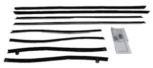 Window Sweeps Felt Kit Weatherstrip For 1969 1970 Cadillac Deville Convertible