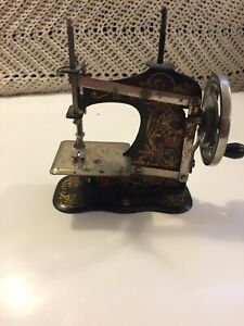 Vintage German Made Hand Crank Toy Sewing Machine