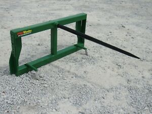 John Deere Tractor Loader Attachment Low Back Round Hay Bale Spear Ship 179