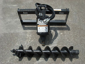 Bobcat Skid Steer Attachment Lowe Bp210 Round Auger With 9 Bit Ship 199