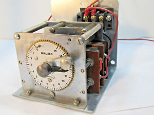 Vintage Cramer 15 Minute Electric Timer With Relay Switches