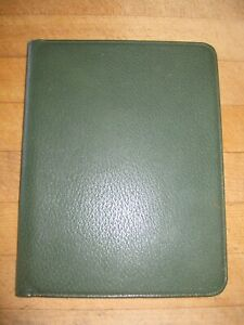 Smythson Green Document Portfolio File Planner Case