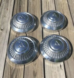 Oem Set 4 Dodge Pickup 3 4 Ton Truck 12 Stainless Steel Hubcaps Dog Dish Caps