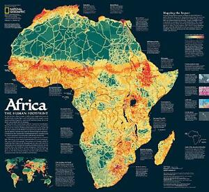 National Geographic Map Of Africa 2 Sided 24 X 22 A Storied Landscape