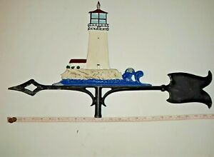 Vintage Old Light House Weather Vane
