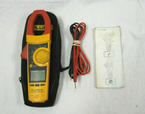 Fluke 337 True Rms Ac Dc Clamp Meter Multimeter With Bag And Leads