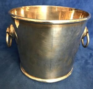 Modernist Mexico Sterling Silver Ice Bucket Taxco Srs