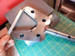 Large Industrial Unmarked Gripper Jaw With Replaceable Jaws 4 5 8 Hardy Holes