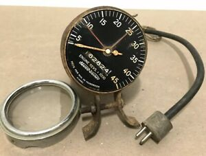 Vintage Sw Stewart Warner Engine Tachometer 0 45k 3 5 8 Bubble Glass Odometer