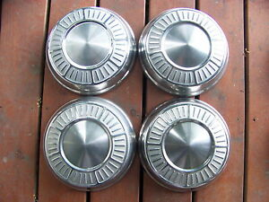 1965 Plymouth Satellite Belvedere Dog Dish Poverty Hubcaps Oem