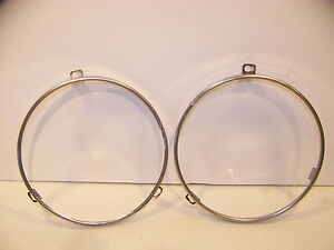 1968 Dodge Dart Headlight Retaining Rings 69 70 71 72 Duster Valiant Barracuda