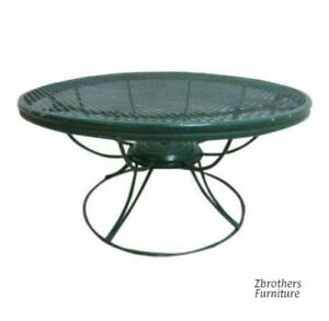 Vintage Outdoor Patio Homecrest Round Revolving Mesh Coffee Table Mid Century