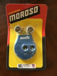 Moroso 23766 Remote Large Diameter Oil Filter Mount