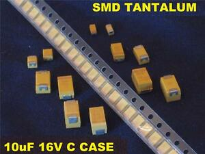 Smd 10uf 10 Uf 16v C Case Tantalum Capacitors 500 Pcs New