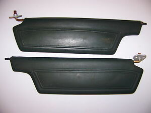 1968 Chrysler 300 Green Sunvisors Oem Pair Plymouth Fury 1967