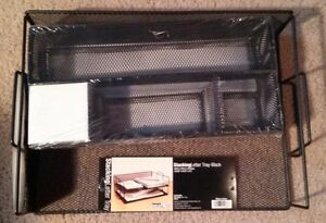 Drawer Storage Kit Office Supply Stacking Letter Tray Store Supplies Black 5 Set
