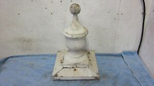 Antique Solid Wood Finial Victorian Architectural Salvage 12 Tall Old Paint