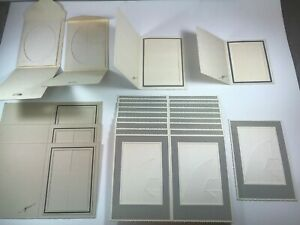 Vintage Lot Of 32 Individual Paper Picture Frame Holder Scrapbook Supplies
