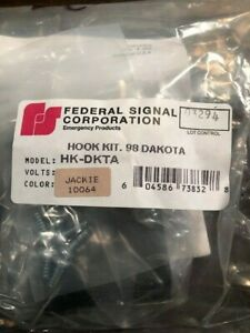 Federal Signal Hk Dkta Lightbar Hook Kit For 98 Dakota 02 Or Jeep Liberty