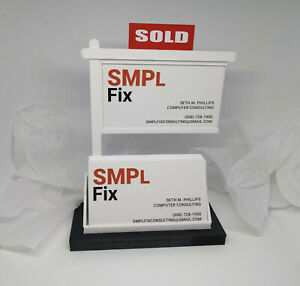 Real Estate Business Card Display business Card Display business Card Holder blk
