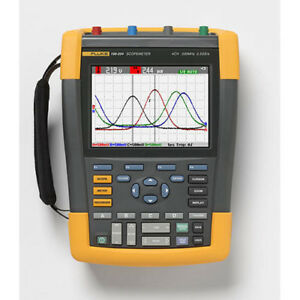 Fluke 190 204 am 200 Mhz 4 ch 2 5 Gs s Color Scopemeter Oscilloscope