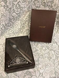 Argentosc 2pc Desk Set With Swarovski Crystals Card Holder Letter Opener