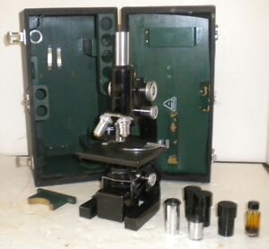 Bausch Lomb Medical Microscope In Original Case Lenses 280989