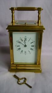 Large French Repeater Carriage Clock In Good Working Order Key