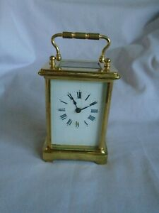 Antique French Couaillet Freres Timepiece Carriage Clock C1900 With Key