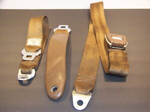 1971 1972 Plymouth Cuda Gtx Dodge Challenger Charger Deluxe Seat Belts Oem Tan