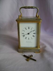 Antique C1880 Francois Arsene Margaine Timepiece Carriage Clock Key In Gwo