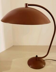 Vintage Working 1950 S Mid Century Modern Atomic Saucer Arched Metal Table Lamp