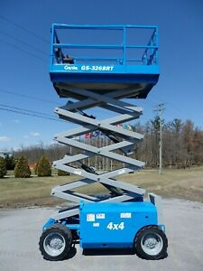 2011 Genie Gs3268rt 32 Rough Terrain Scissor Lift Manlift 32ft Platform Lift