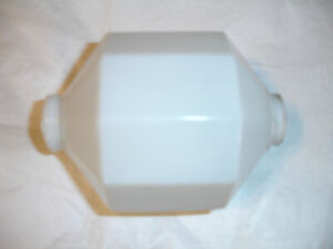 Architectural Salvage Roof 10 Sided Lightning Rod Ball White Milk Glass Barn 12