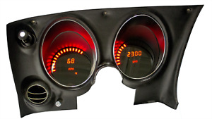 C3 Corvette 1968 1977 Led Digital Dash Gauge Instrument Cluster Direct Fit Red