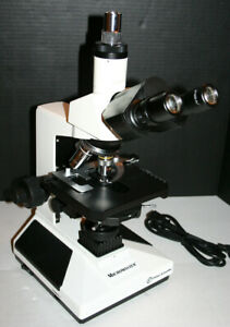 Fisher Compound Phase Contrast Microscope Trinocular Nice New 12563312