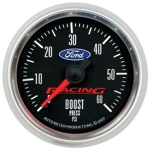 Autometer Ford Racing Boost Gauge 0 60psi 2 1 16in