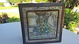 Inlay Wooden Box Antique Oriental Mother Of Pearl Stunning