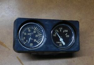 Vintage 1970s Sw Stewart Warner Vacuum Oil Temperature Gauges