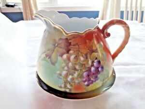 Vintage Antique Large Lemonade Pitcher J C Germany Signed A Koch Beautiful