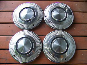 1963 Plymouth Valiant 13 Hubcaps Oem