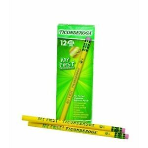 My First Ticonderoga Primary Size 2 Beginner Pencils Yellow 33312 144 pack