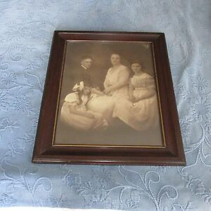 Antique Victorian Frame Family Portrait Photo Young Girl Deceased Or Asleep
